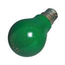 25w BC Bayonet Cap (GLS) Lamp GREEN 60mm Dia 240v B22 Base